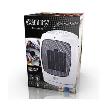 Camry Ventoinha Aquecedor Oscilante 1500W Branco - CR7718