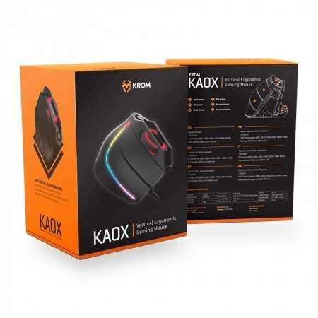 Rato Vertical Krom Kaox Gaming RGB - NXKROMKAOX