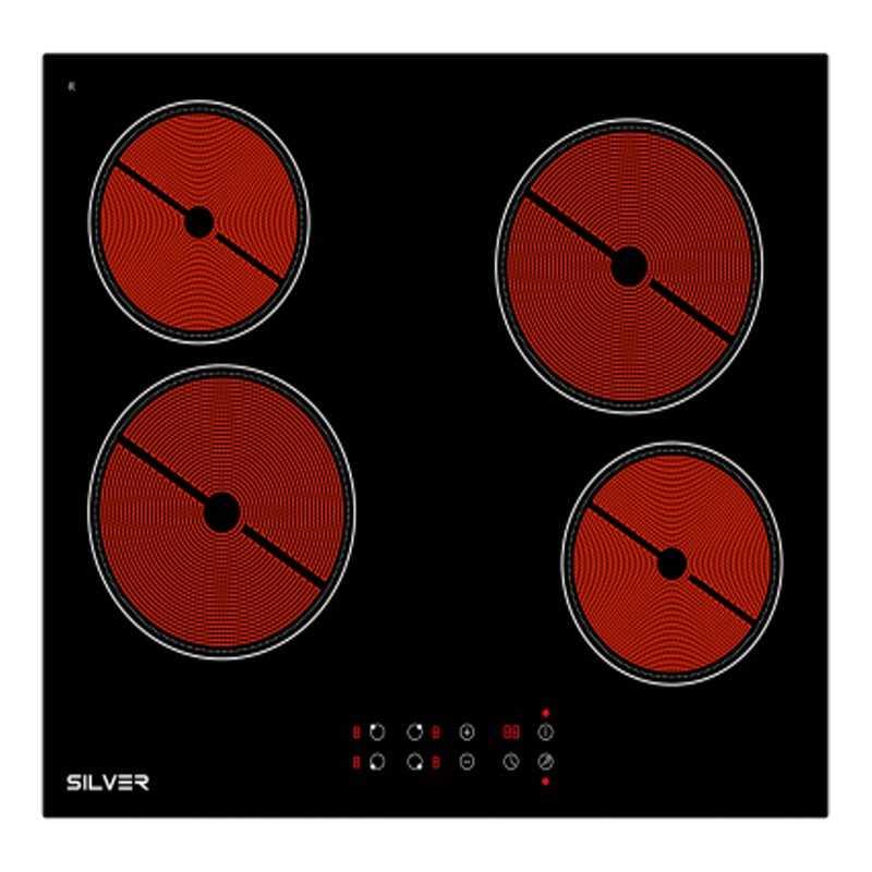 Placa Vitrocerâmica Silver 4 Zonas - SKPV4FLK