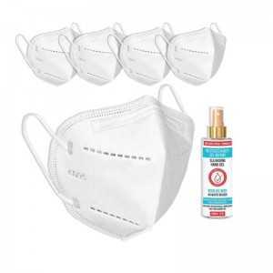 Kit de Proteção FFP2- 5 máscaras FFP2 + Álcool em gel