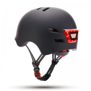 Helmet with front and rear...