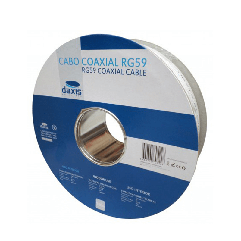 Cabo Coaxial RG5 100MT Daxis