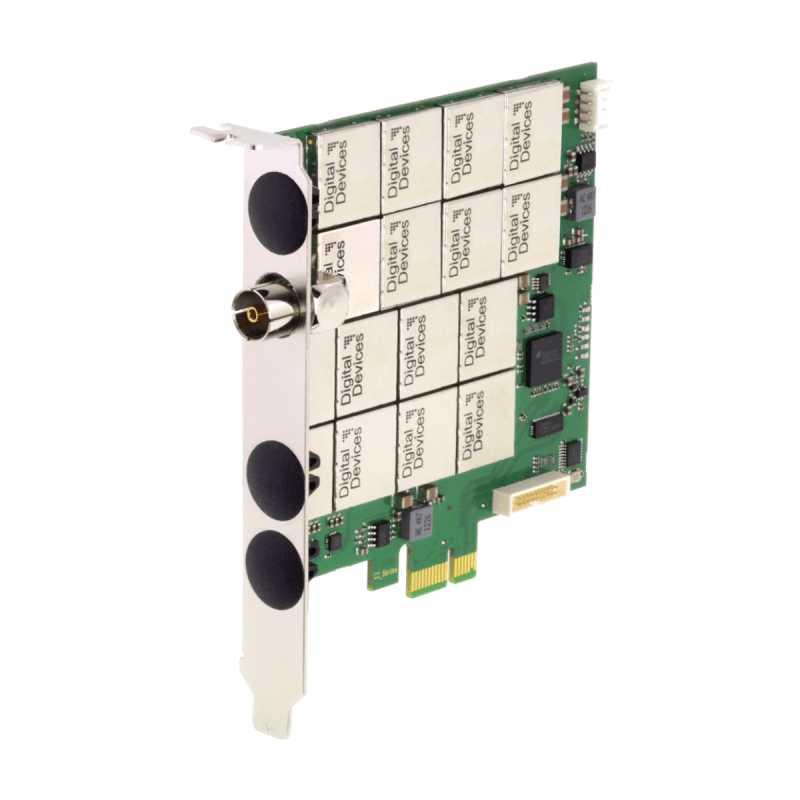 Placa Octo Tuner DVB-C2/T2 Max A8i HDTV Digital Devices