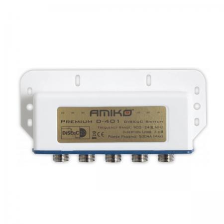DiSEqC Exterior 2.0 Switch 4 Portas Amiko