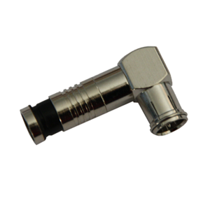F Type Connector 90º Compression RG6 FCM Quick