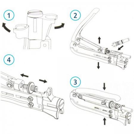 Adjustable Compression Pliers RG6, RG59, RG11