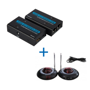 Kit HDMI Extender 50m Cat 5e/6 Full HD + IR Transmitter