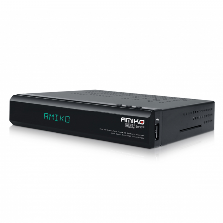 Amiko Neo Twin SE H.265 Suporte HDD Recetor Dual SAT