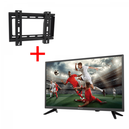 "Pack TV LED HD 24"" DVB-T/T2/C/S2 Strong + Suporte Parede"