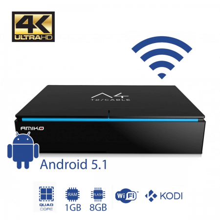 Amiko A4 Cabo/TDT 4K WiFi Android 5