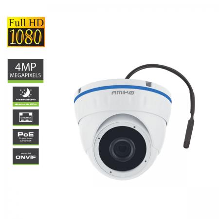 IPCAM Amiko D20V400 4MP Áudio POE