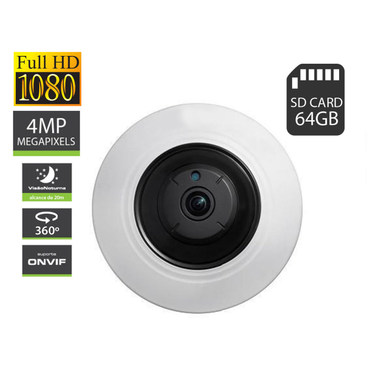 Amiko camara IP de teto 360º POE Wi-Fi 4MP FE20A400POE