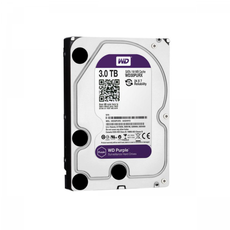 "Disco Duro HDD SATA III 3TB 3.5"" WD Purple"