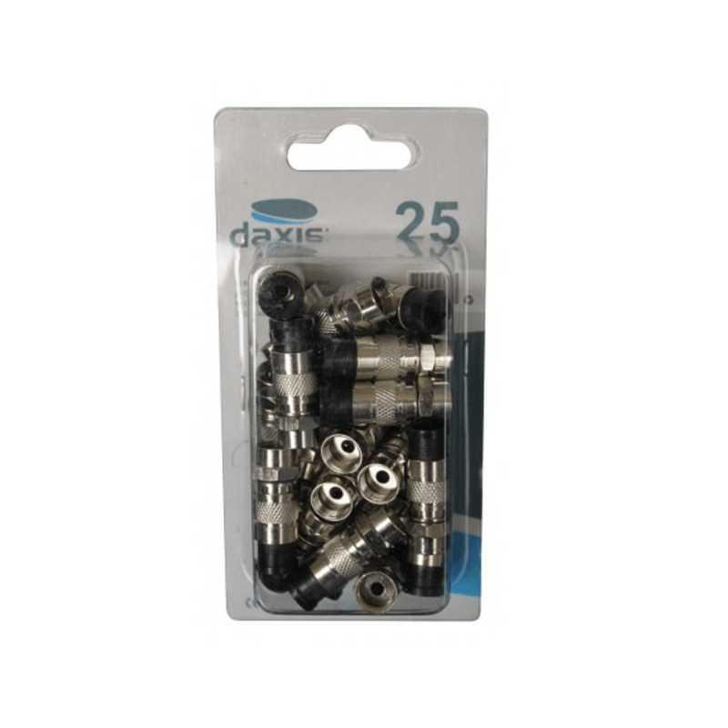 Ficha Tipo F Compressão p/cabo RG5 Daxis (25 unid.)