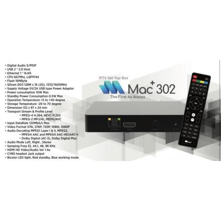 MAC+ 302 Linux IPTV  HD