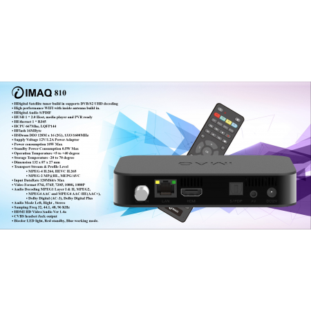 IMAQ 810 IPTV + DVB S STB