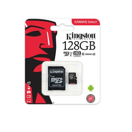 Micro SDXC 128GB Kingston - Class 10
