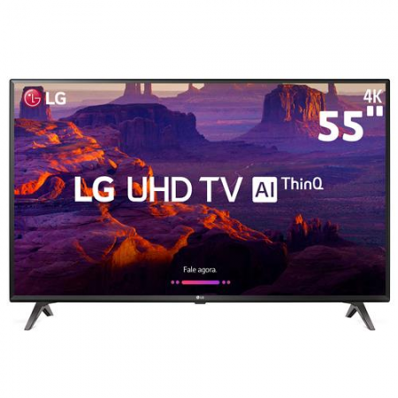 "Smart TV LCD 4K 55"" UHD com HDR e AI ThinQ"