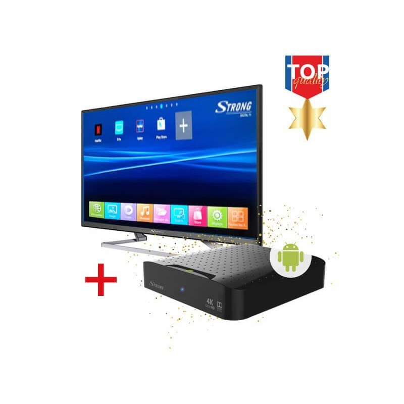 """TV LED Stong 32"""" + Recetor Strong IP Android"""