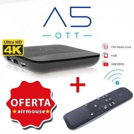 Amiko A5 OTT IPTV 4K + AirMouse