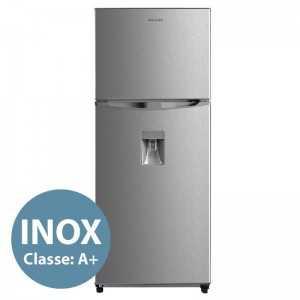 2 Doors Silver Refrigerator with Dispenser