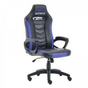 Cadeira Gaming Invicuts - Preto e Azul - Matrics