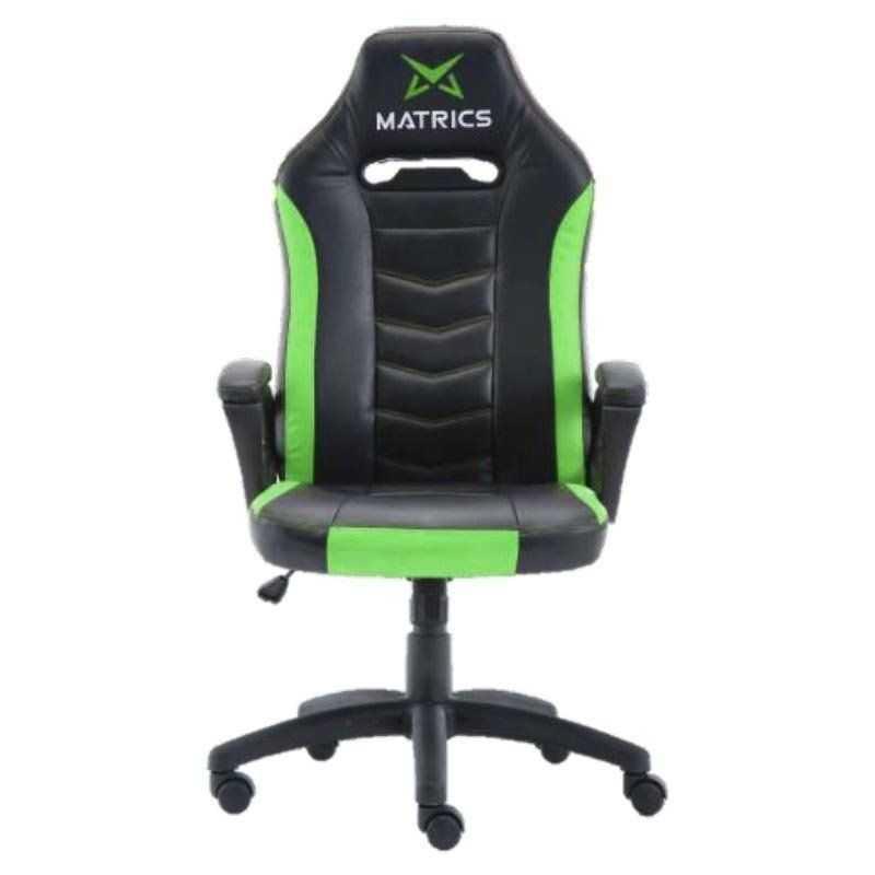 Cadeira Gaming Invicuts - Preto e Verde - Matrics