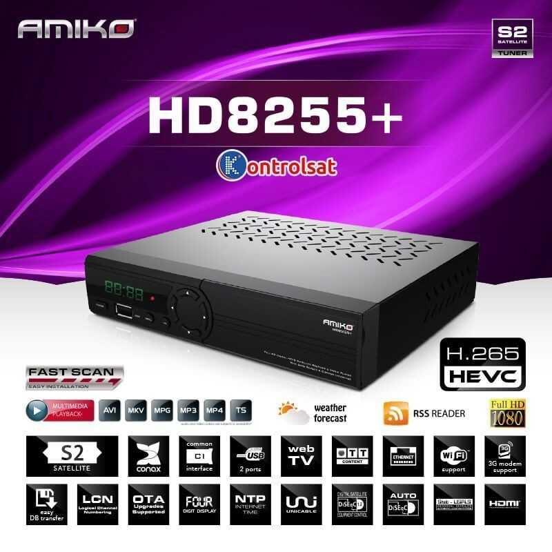 Amiko HD8255+ DVB-S2 HEVC