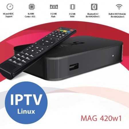 Mag 420 w1 - IPTV - 4k - wifi