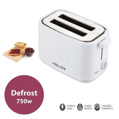 Silver Toaster - 750W