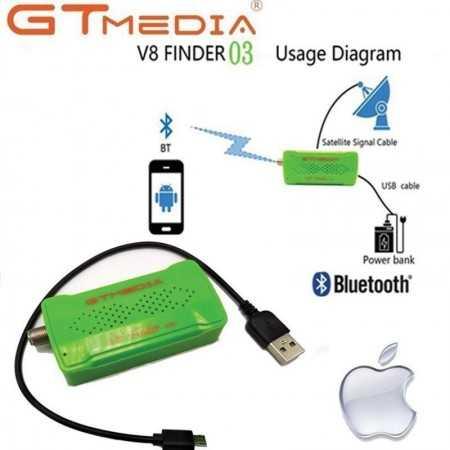 Gtmedia BT03 V8 BT03 DVB-S2 digital satellite TV receiver locator for smartphones