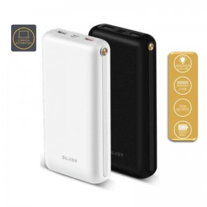 Power Bank C/ PD Silver S90 - 10000 mah