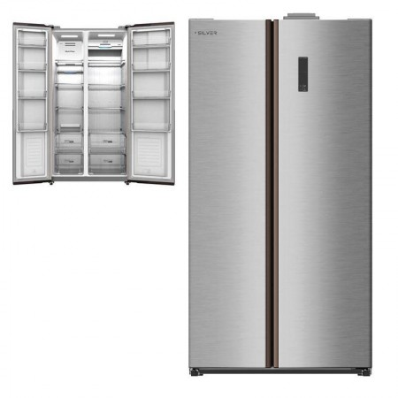 Silver American Refrigerator - 573L - STAINLESS - A +