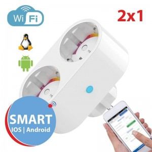 Tomada Wi-Fi 2x1 Smart Pl