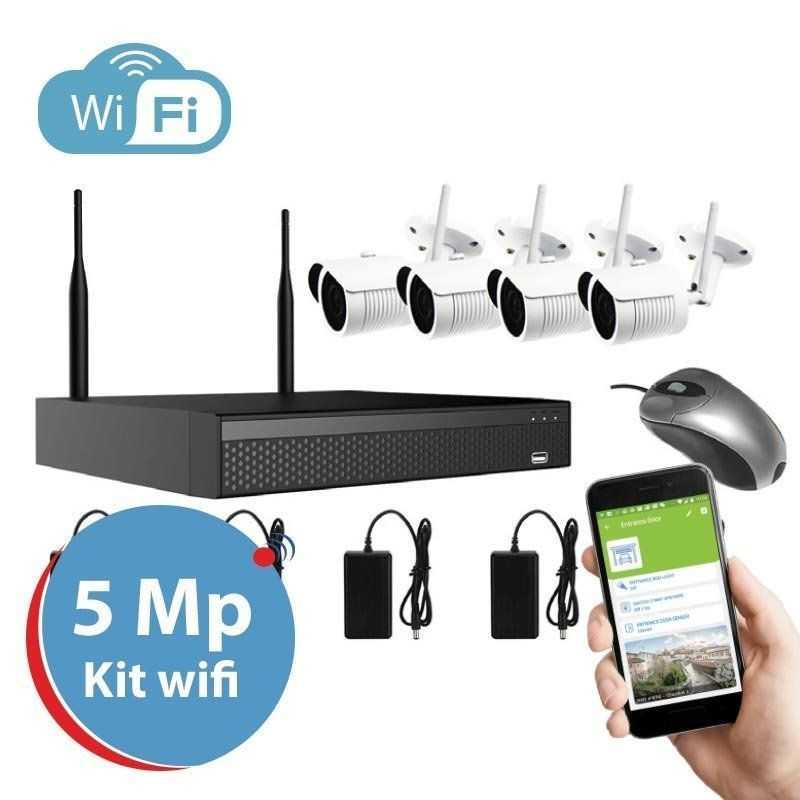 Amiko Kit Wifi 4 Cameras - 4CAM4CH5MP