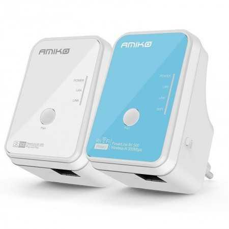 Amiko Powerline Wi-Fi - PLN-502W - (500/300Mbps)