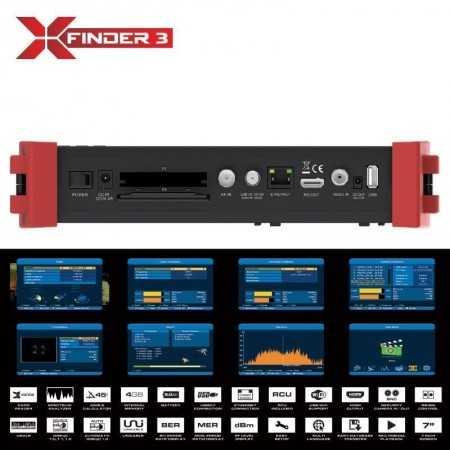 AMIKO X-FINDER 3  MEDIDOR DE CAMPO DVB-S C/T