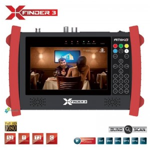 Medidor de Campo Amiko X-Finder 3 DVB-S, C/T H.265/HEVC