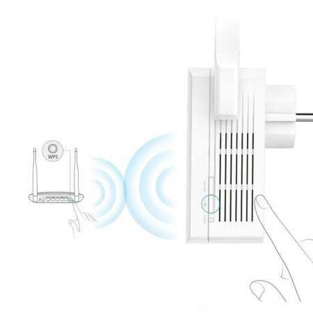 300Mbps Wi-Fi Range Extender com tomada de energiaTL-WA860RE