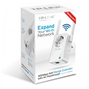 300Mbps Wi-Fi Range Extender with Power OutletTL-WA860RE