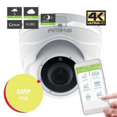 Amiko Câmera IP D20M4K POE - 4k