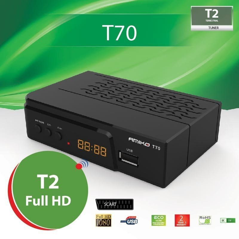 Amiko T70 T2 Full HD Hdmi