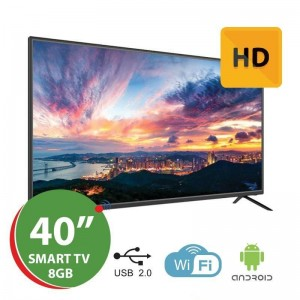 "Smart TV LED 40"" HD Silver - Android - 1GB Ram - 8GB"