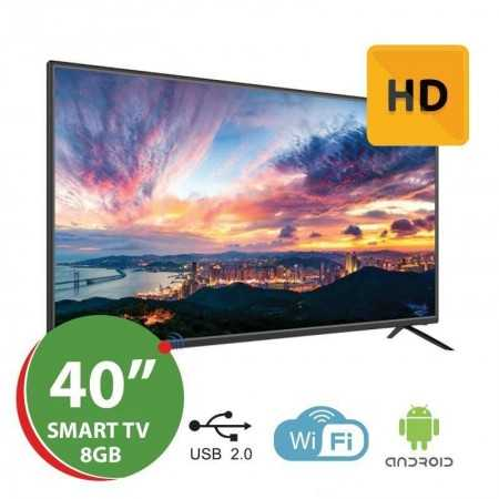 """Smart TV LED 40"""" HD Silver - Android"""