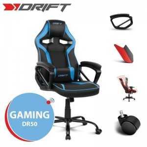 Cadeira Gaming Drift DR50 - Preta/Azul