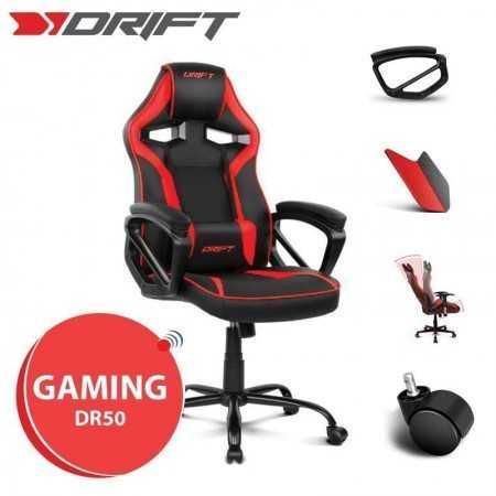 Cadeira Gaming Drift DR50 - Preta/Vermelha