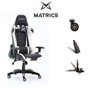 Cadeira Pro Gaming Osiris - Preto e Branco - Matrics