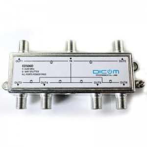Satellite Splitter 6 Outputs - 5-2400MHZ (DC Through)