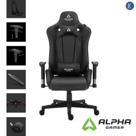Alpha Gamer Zeta Black Gaming Chair