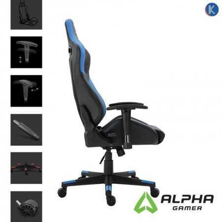 Cadeira Gaming Alpha Gamer Zeta - Preta/Azul